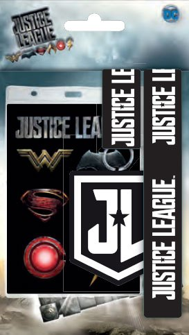 Justice League Lanyard with Rubber Keychain Logo