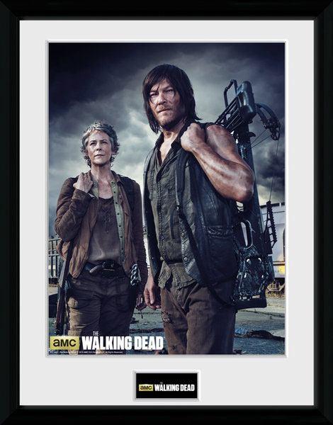 Walking Dead Framed Poster Carol and Daryl 45 x 34 cm