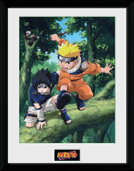 Naruto Framed Poster Trees 45 x 34 cm