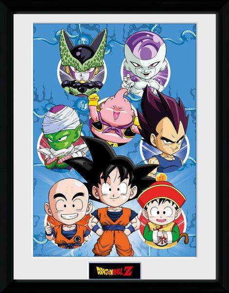 Dragonball Z Framed Poster Chibi Characters 45 x 34 cm