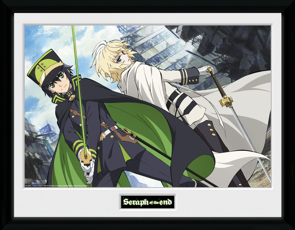 Seraph of the End Framed Poster Swords 45 x 34 cm