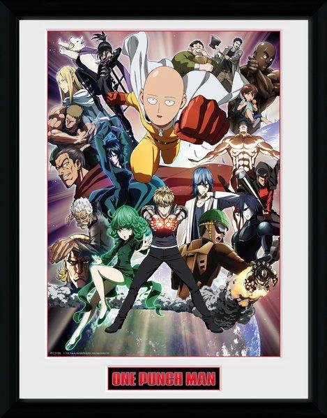 One Punch Man Framed Poster Key Art 45 x 34 cm