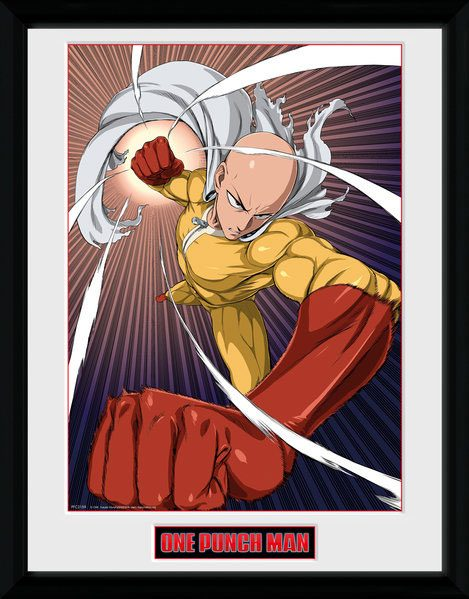 One Punch Man Framed Poster Speed Punch 45 x 34 cm