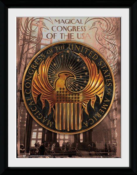 Fantastic Beasts Framed Poster Magical Congress 45 x 34 cm