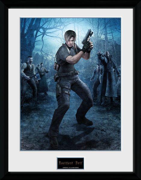 Resident Evil Framed Poster Leon Gun 45 x 34 cm