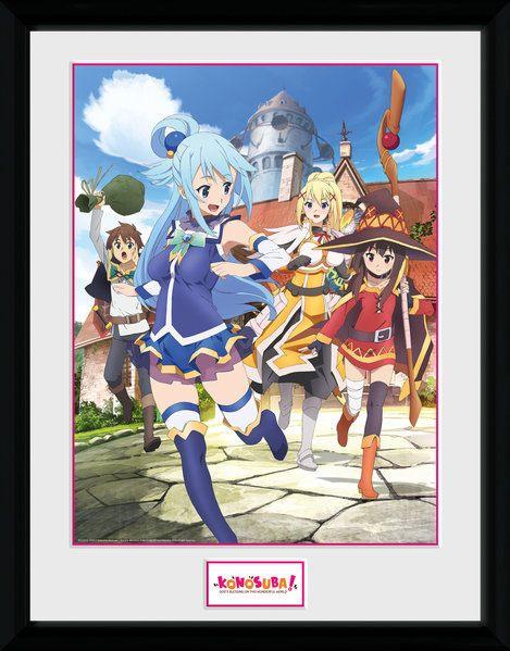 Kono Subarashii Sekai ni Shukufuku o! Framed Poster Key Art 45 x 34 cm