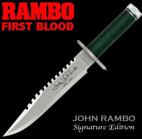 Rambo I First Blood John Rambo Knife Signature Edition 36 cm