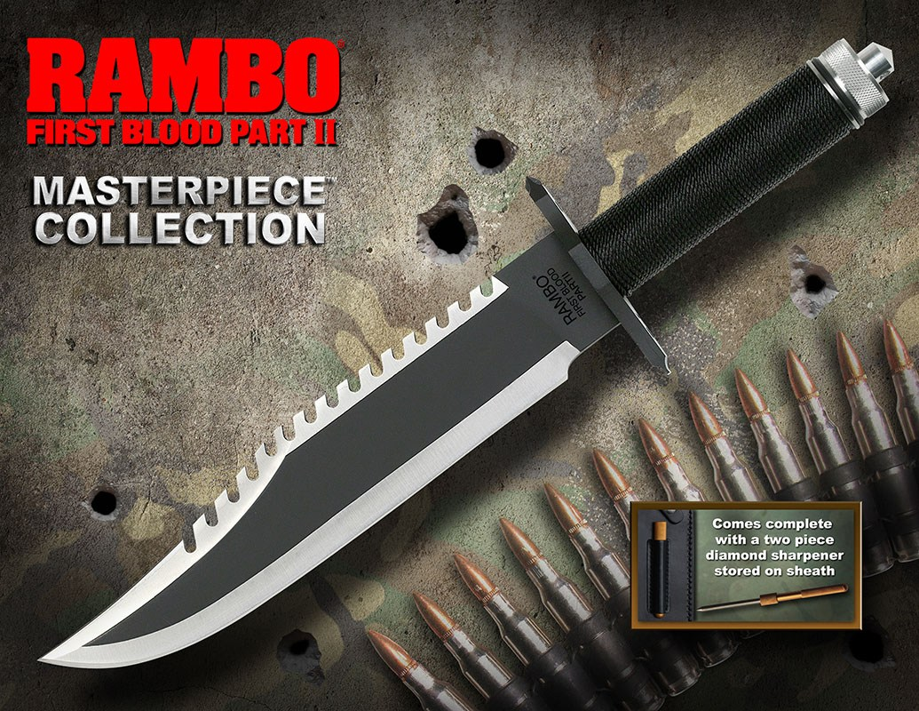Rambo First Blood Part II Replica 1/1 Knife Standard Edition 40 cm