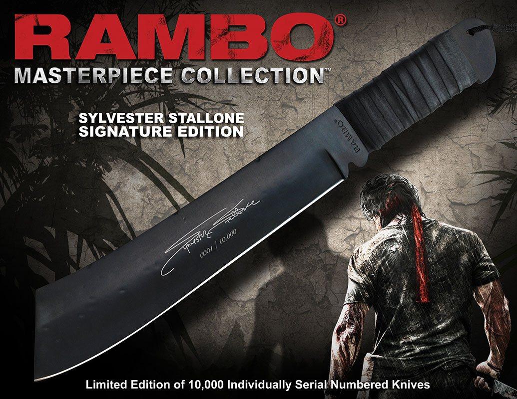 Rambo Replica 1/1 Knife Sylvester Stallone Signature Edition 46 cm