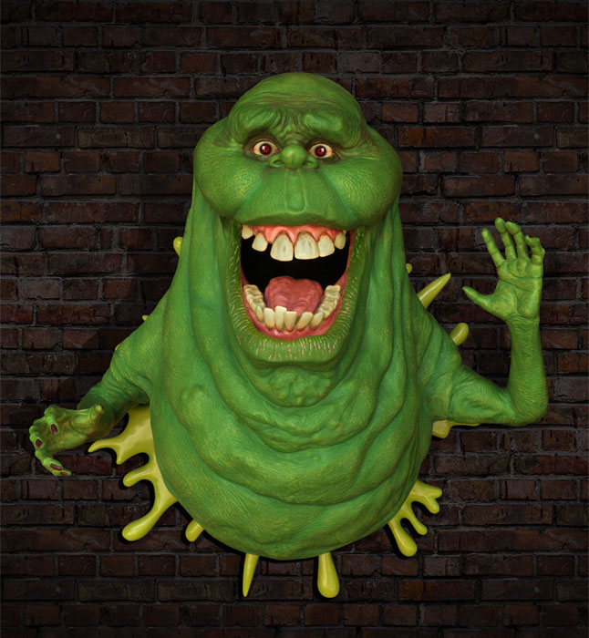 Slimer Ghostbusters Life-Size Wall Sculpture by Hollywood Collectibles Group