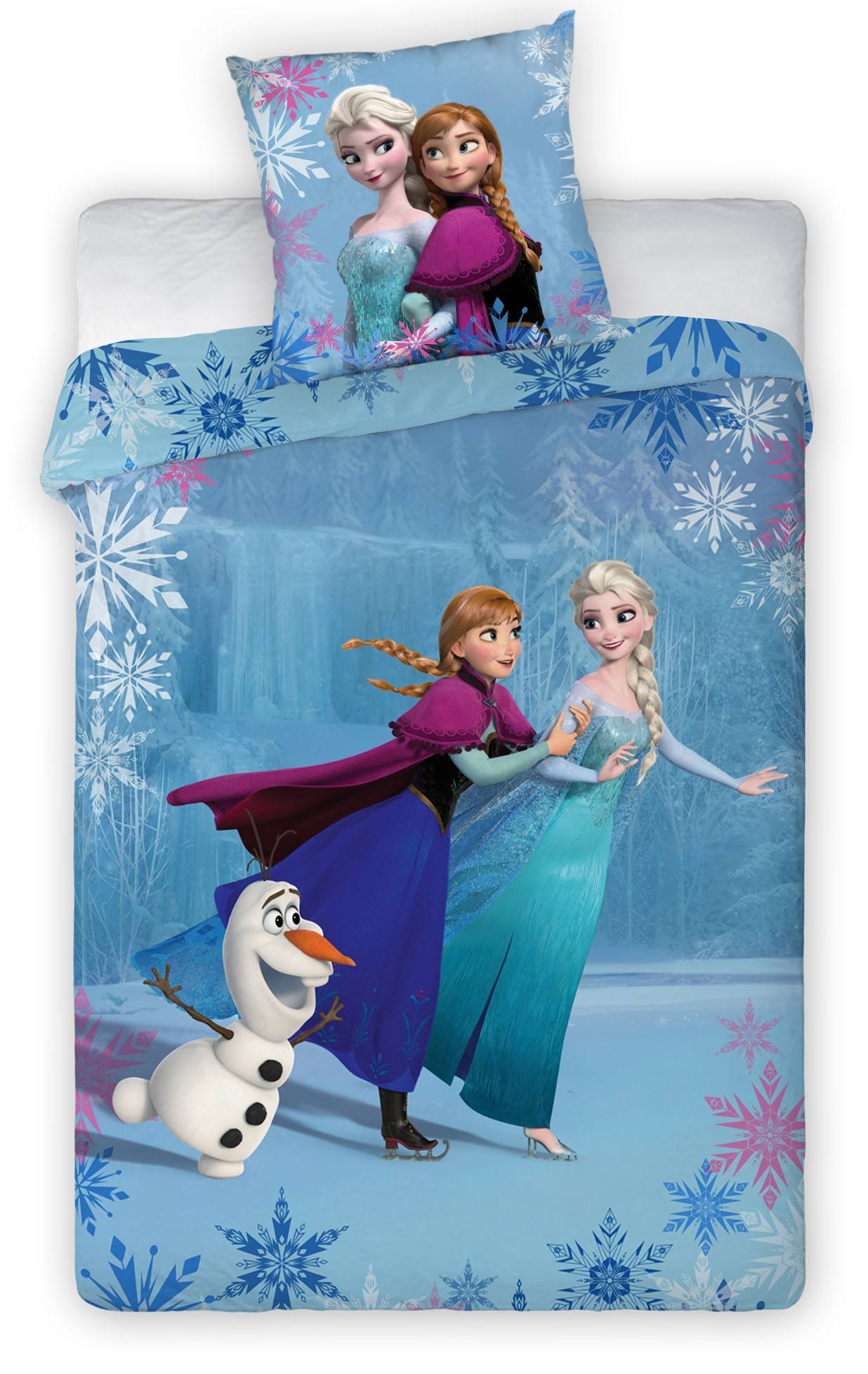 Frozen Duvet Set Anna, Elsa & Olaf on Ice 140 x 200 cm