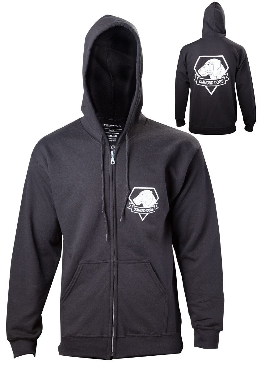 Metal Gear Solid V Zipped Hooded Sweater Diamond Dogs  Size XXL
