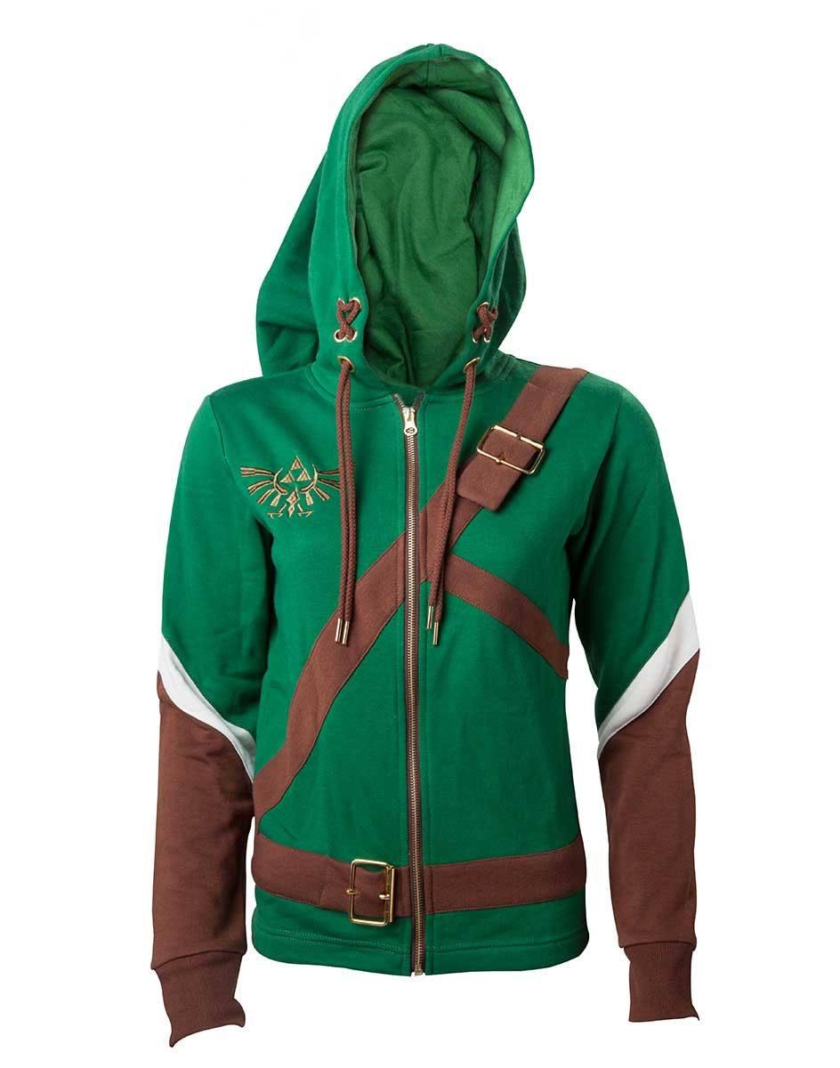The Legend of Zelda Ladies Hooded Sweater Link Cosplay Size S