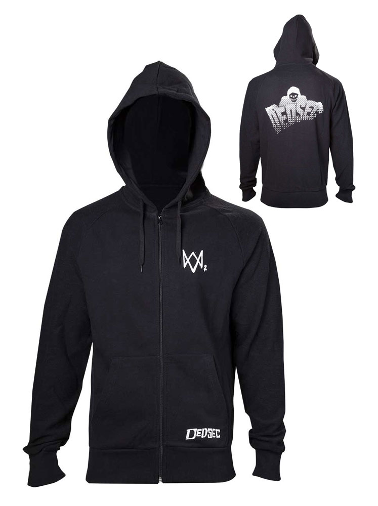 Watch Dogs 2 Hooded Sweater Dedsec  Size XL