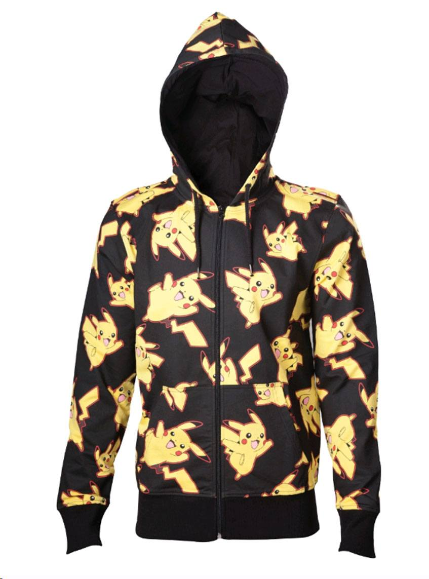 Pokemon Hooded Sweater Pikachu All Over Size S
