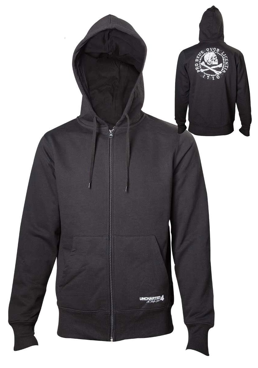Uncharted 4 Hooded Sweater Pro Deus Qvod Licentia Size L