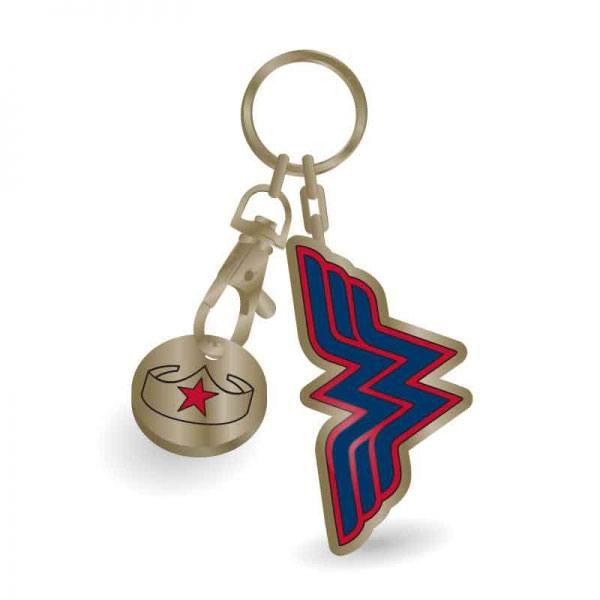Wonder Woman Metal Keychain Stars 5 cm