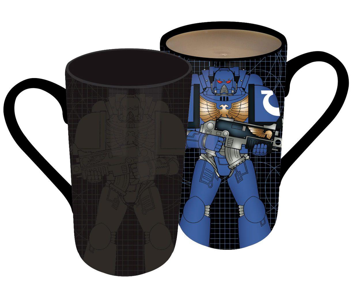 Warhammer Heat Change Latte-Macchiato Mug Space Marine