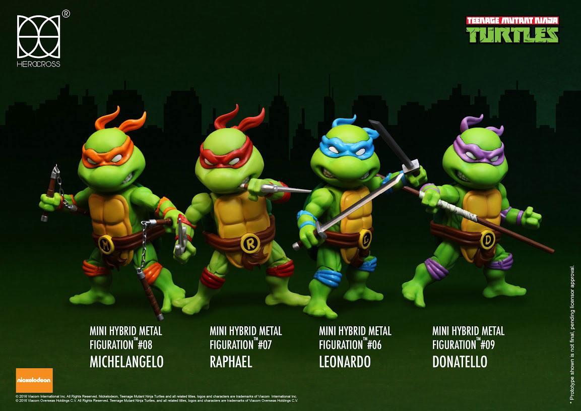 Teenage Mutant Ninja Turtles Hybrid Mini Metal Action Figure 4-Pack 7 cm