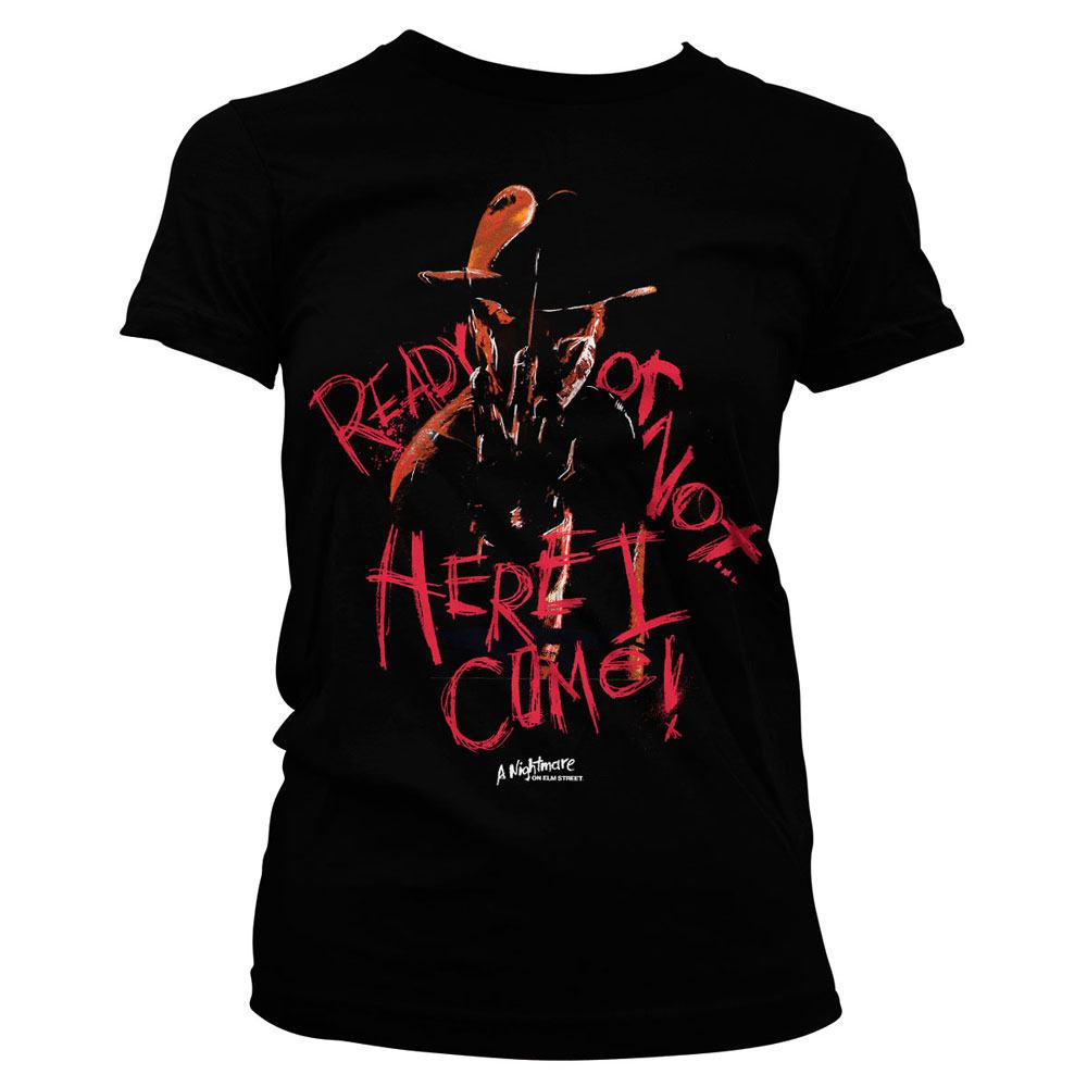 Nightmare on Elm Street Ladies T-Shirt Here I Come Size S