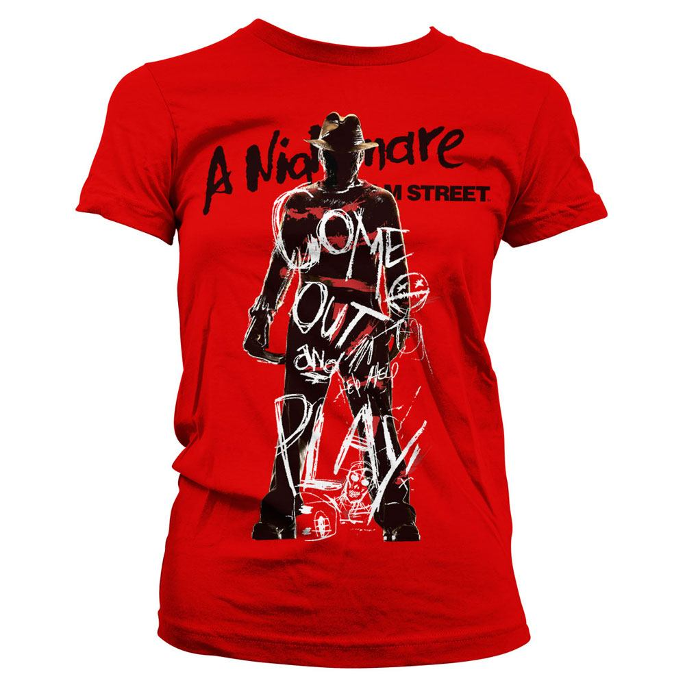 Nightmare on Elm Street Ladies T-Shirt Come Out And Play Size S