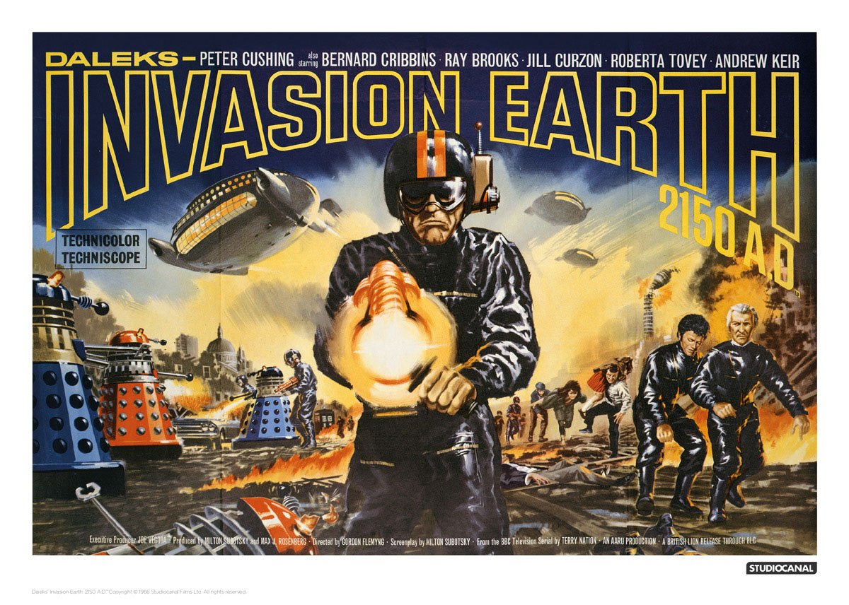 Doctor Who Art Print Invasion Earth Landscape 42 x 30 cm