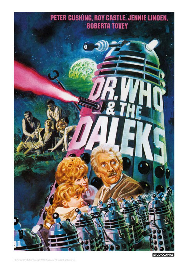 Doctor Who Art Print Dr Who & The Daleks 42 x 30 cm