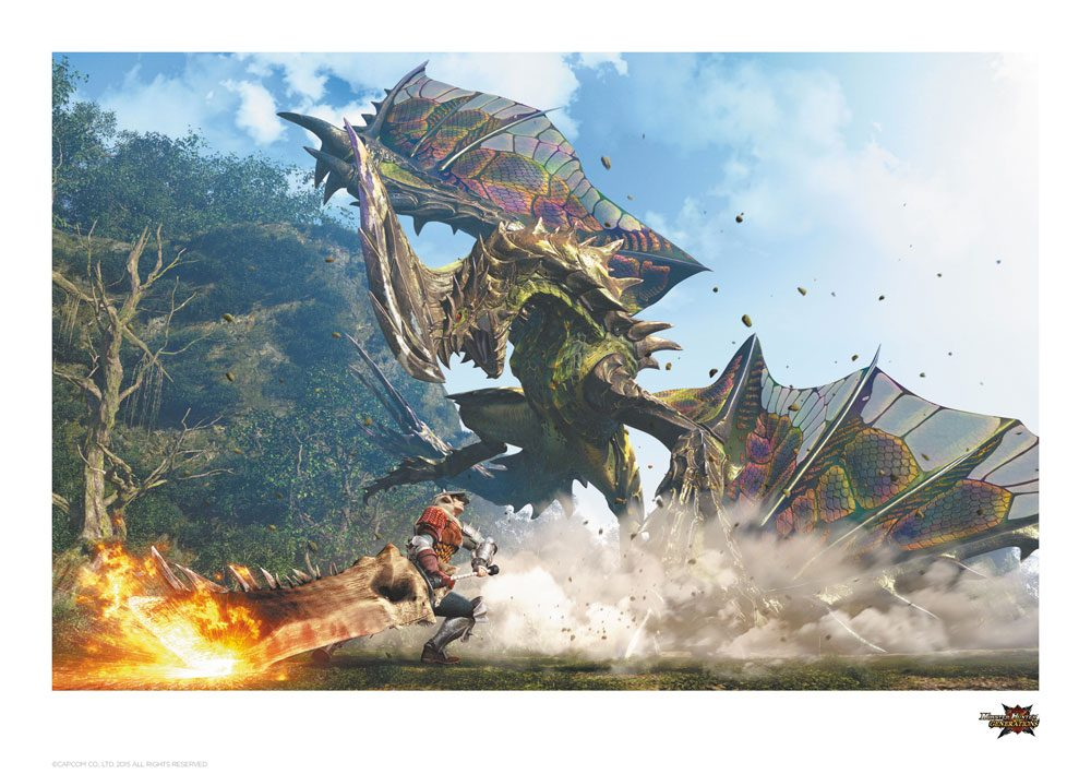Monster Hunter Generations Art Print Astalos 42 x 30 cm
