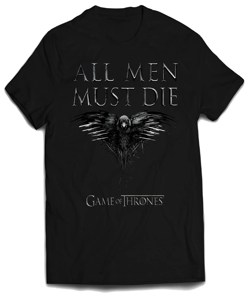Game Of Thrones T-Shirt All Men Must Die Size L