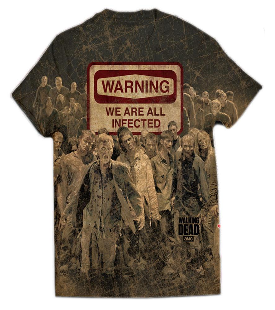 Walking Dead T-Shirt Warning Size S