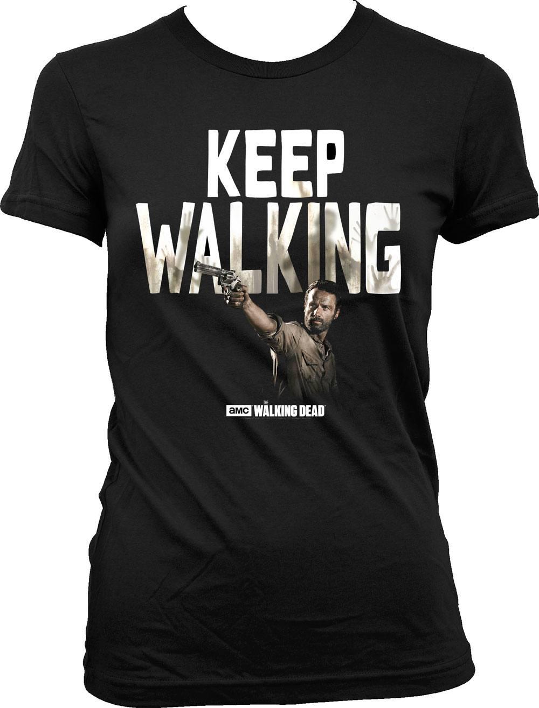 Walking Dead Ladies T-Shirt Keep Walking Size M