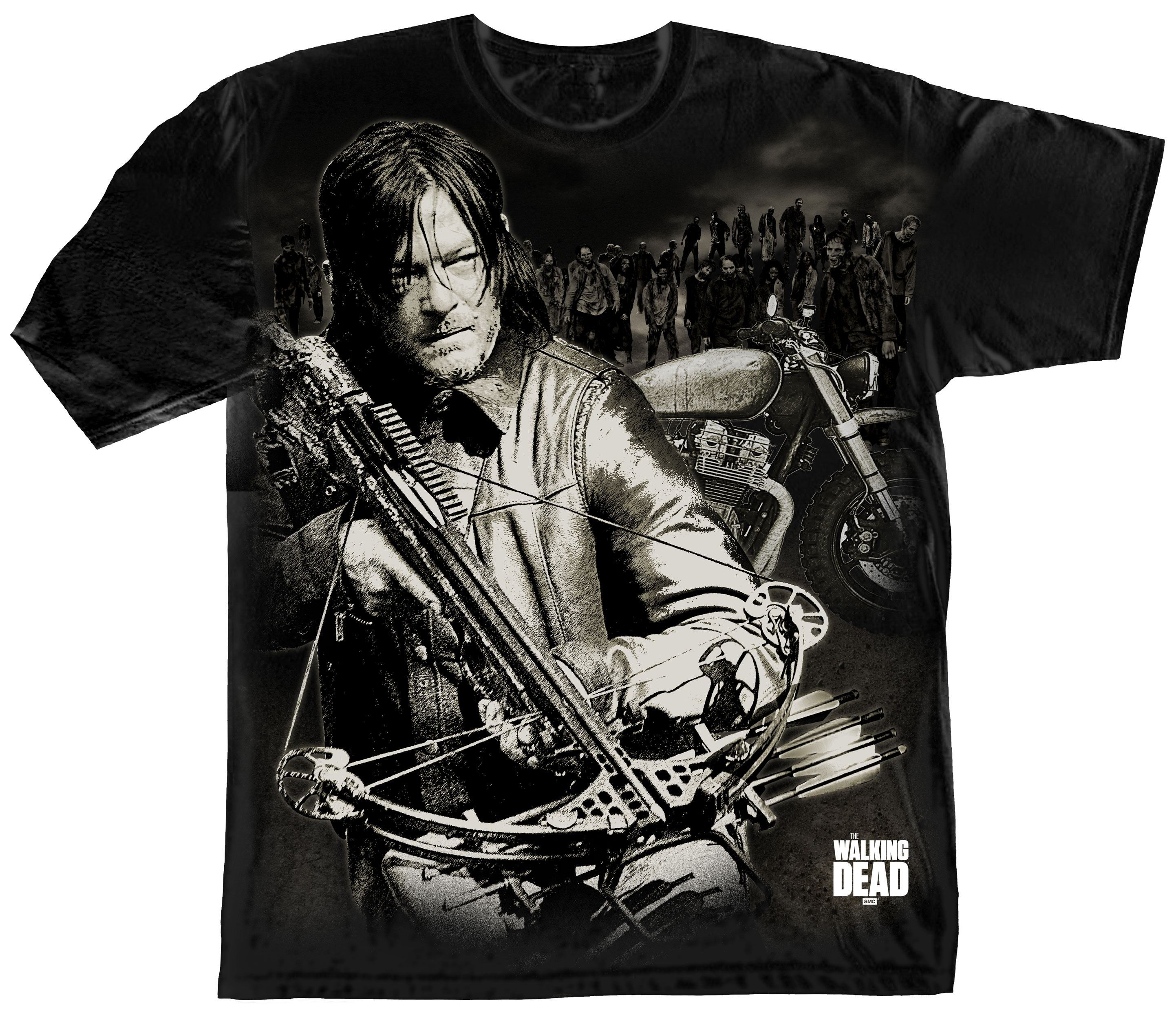 The Walking Dead T-Shirt Dixon Crossbow Ready Size XL