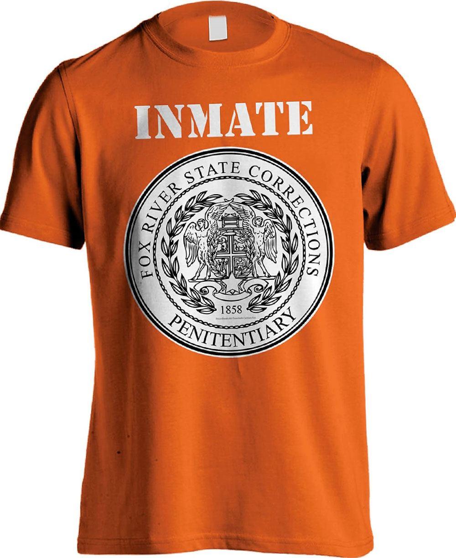 Prison Break T-Shirt Fox River Inmate Orange Size M