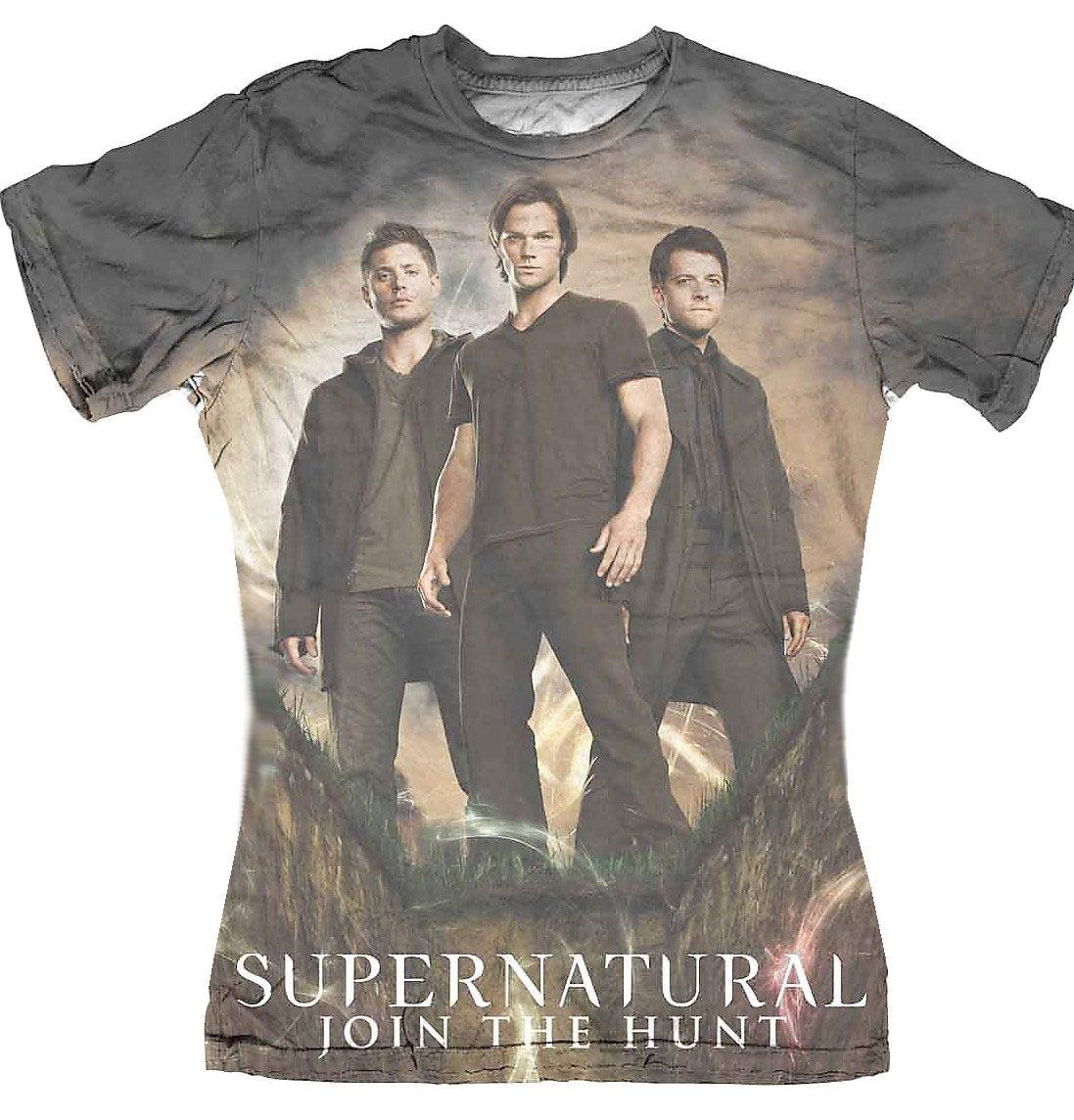Supernatural Ladies Sublimation T-Shirt Group  Size XL