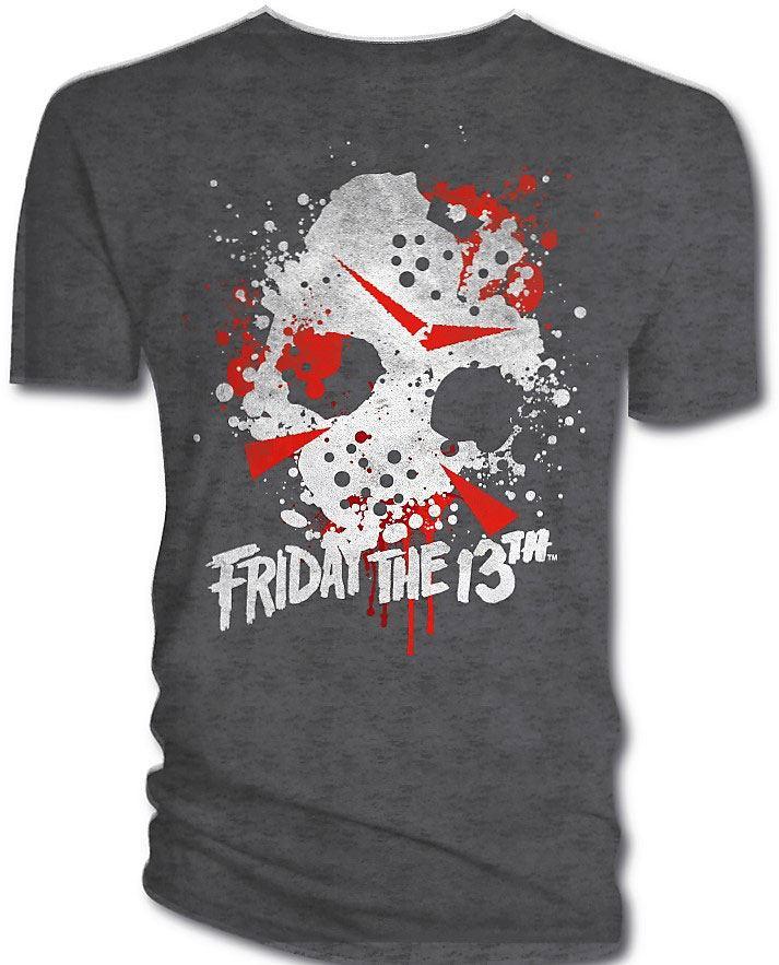 Friday the 13th T-Shirt Mask Splatter  Size XL