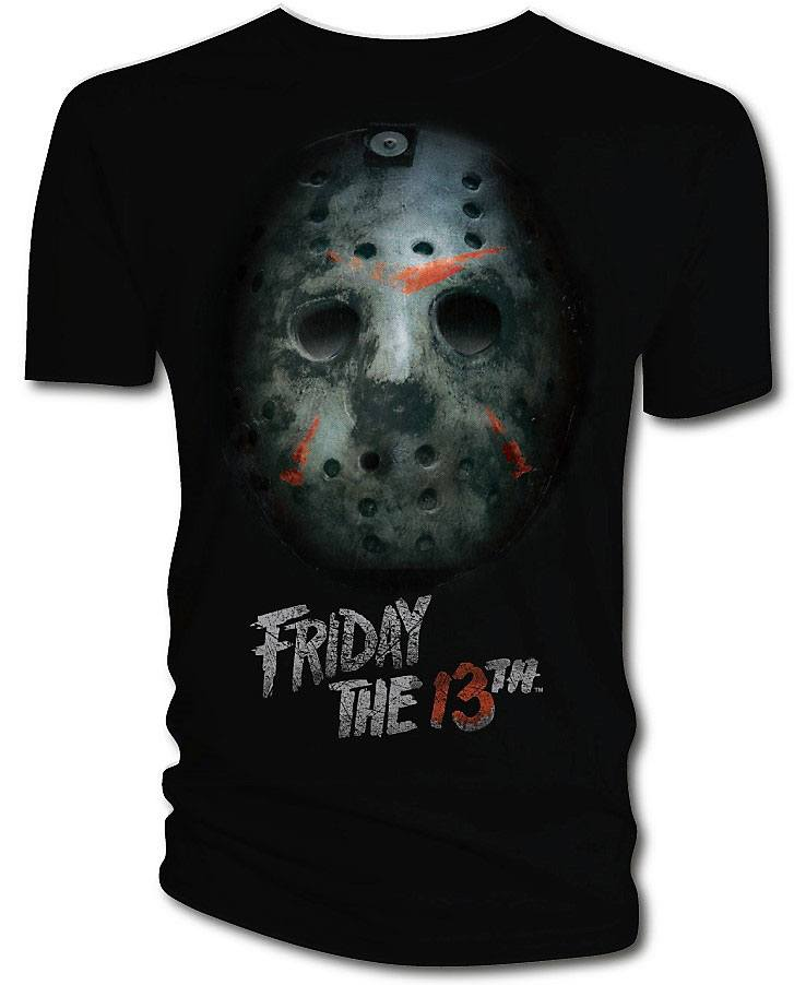 Friday the 13th T-Shirt Bloody Mask  Size S