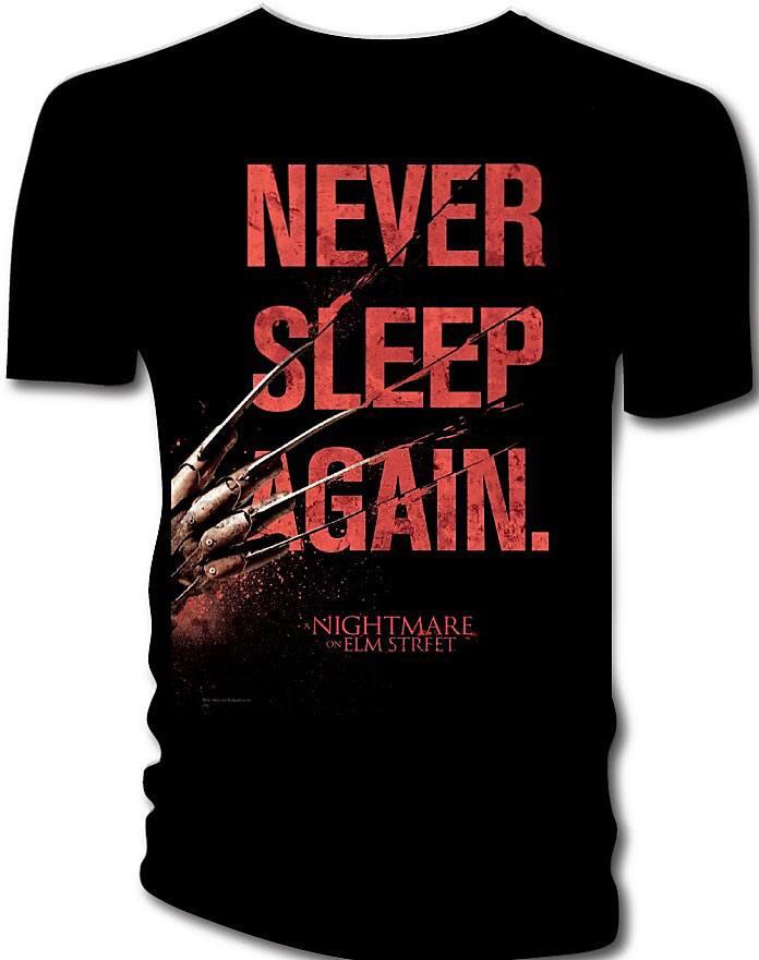 Nightmare on Elm Street T-Shirt Never Sleep Again  Size L
