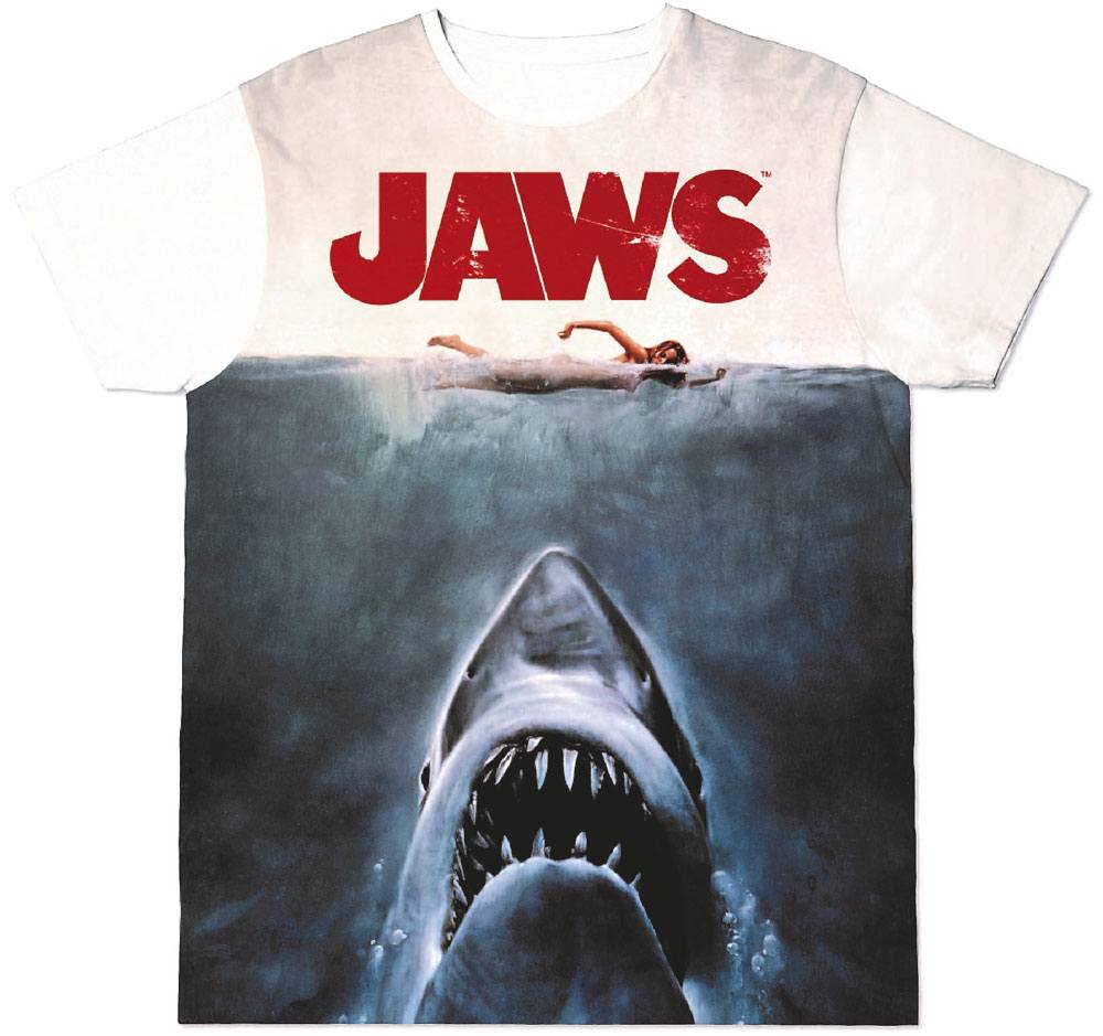 Jaws Sublimation T-Shirt Shark  Size S