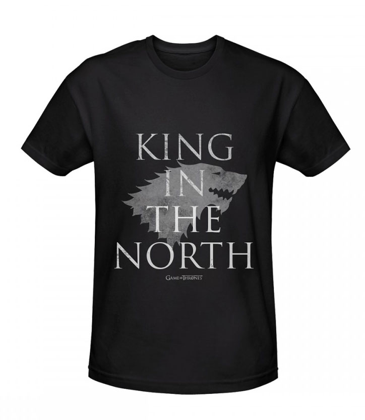 Game of Thrones T-Shirt King In The North Size XL