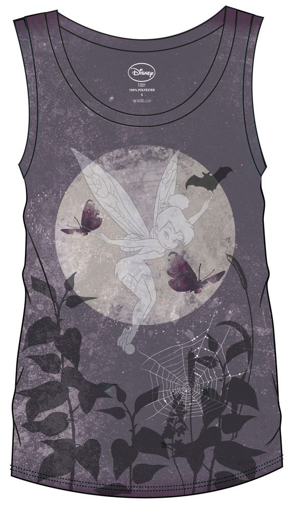 Disney Sublimation Girlie Tank Top Tinkerbell Dark Size S