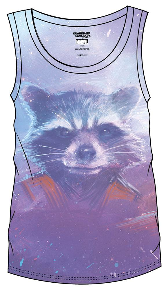 Guardians of the Galaxy Vol. 2 Sublimation Girlie Tank Top Rocket  Size XL