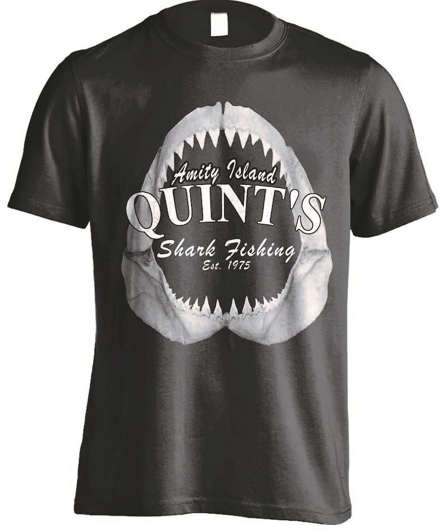 Jaws T-Shirt Quints Shark Fishing Size L