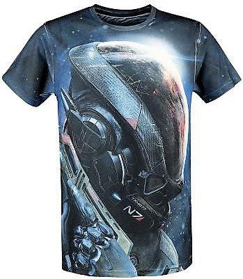 Mass Effect Andromeda Sublimation T-Shirt Ryder N7 Bespoke  Size S