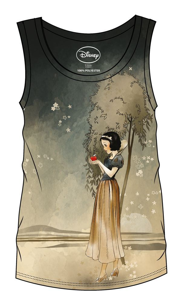 Snow White and the Seven Dwarfs Sublimation Girlie Tank Top Snow White & Apple Size XL
