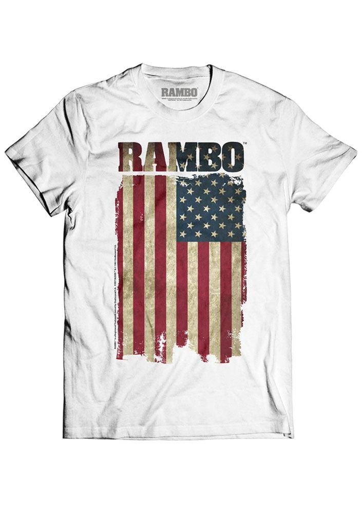 Rambo T-Shirt Flag Size XL