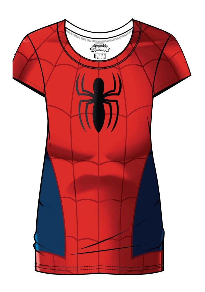 Marvel Comics Ladies Sublimation T-Shirt Spider-Man Costume Size M