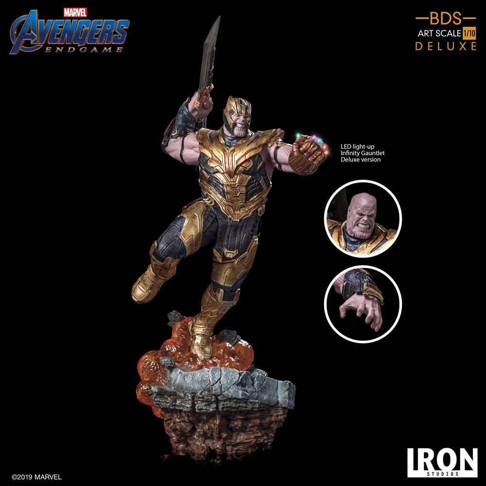 Thanos Deluxe Version Avengers Endgame BDS Art 1/10 Scale Statue by Iron Studios