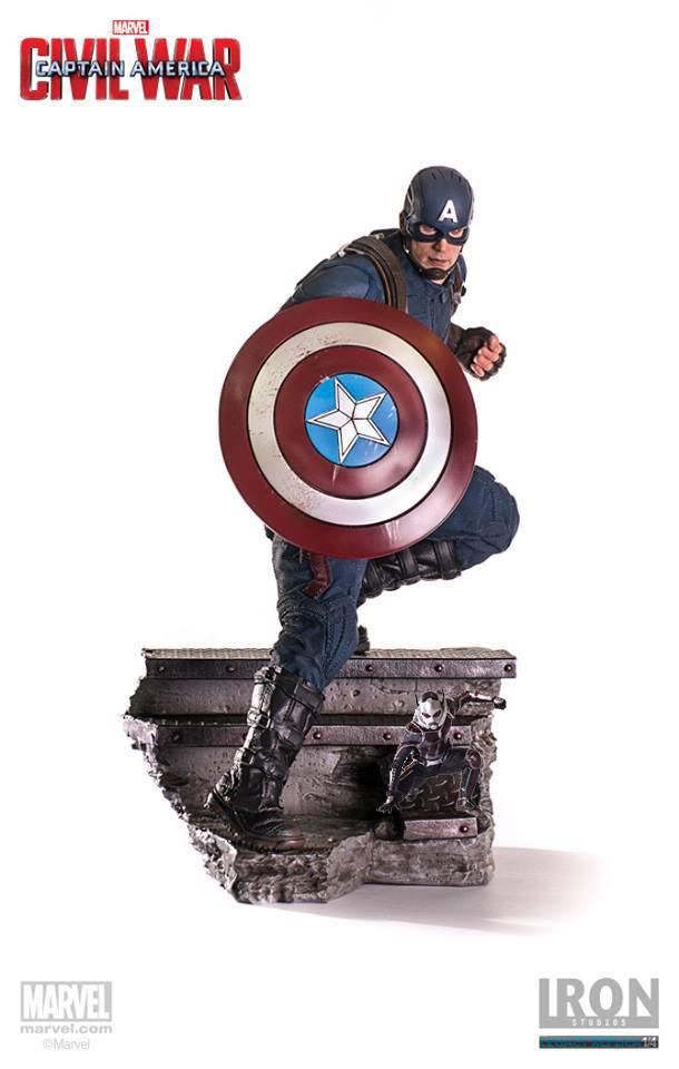 Captain America Civil War Legacy Replica Statue Captain America & Ant-Man 41 cm