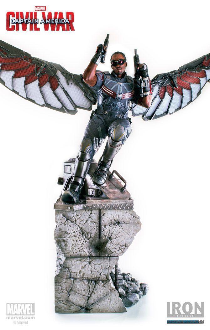 Captain America Civil War Statue 1/4 Falcon 76 cm