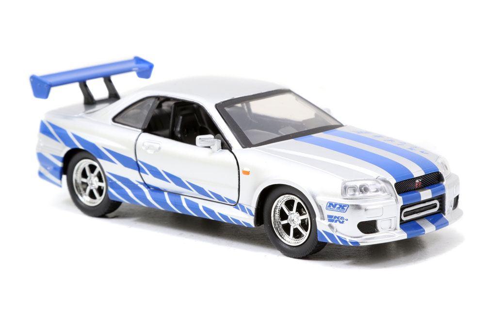 Fast & Furious Diecast Model 1/32 2002 Nissan Skyline GTR R34 *silver/blue*